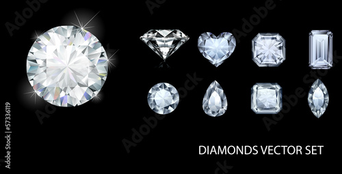 Diamond shapes collection Wallpaper Mural