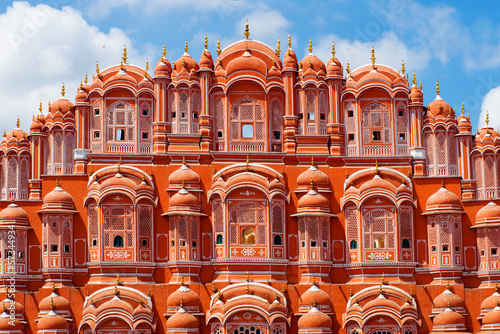Deurstickers India Hawa Mahal palace (Palace of the Winds) in Jaipur, Rajasthan