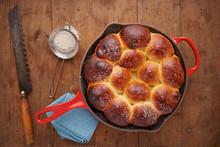 Brioche Ball Pie In A Pan Over...
