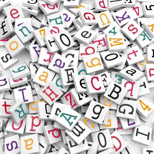 Obrazy z napisami alfabet-na-kostkach