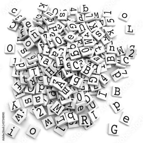 Obrazy z napisami znaki-alfabetu-czarno-biala