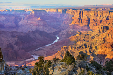 Obraz na Plexi Majestic Vista of the Grand Canyon at Dusk
