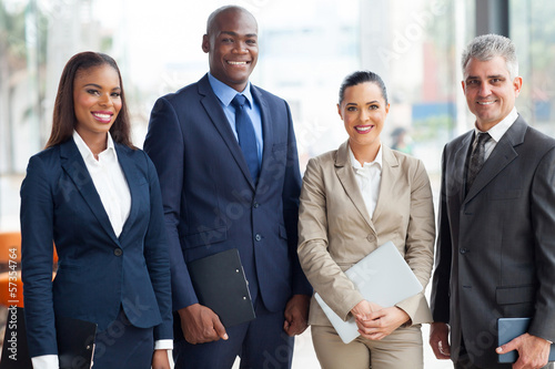 Photo  multiracial business team in office