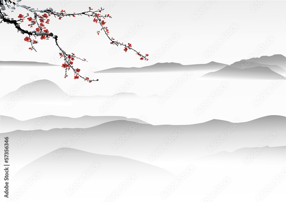 mountain painting   chinese painting