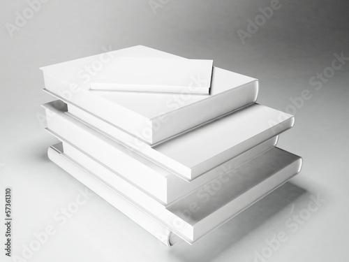 Fototapeta a lot of books on a white background obraz na płótnie