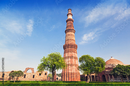 Canvas Prints Delhi Qutub Minar