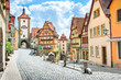 canvas print picture - Medieval town of Rothenburg ob der Tauber, Bavaria, Germany