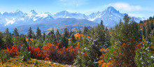 Panoramic View Of Rocky Mountains