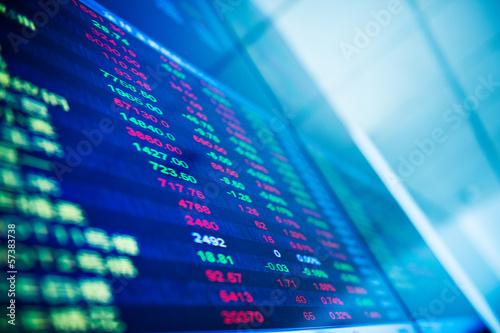 Fotografía  Display of Stock market