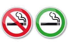 No Smoking And Smoking Area Si...