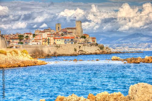 Fotografía  Vista de Antibes, Francia