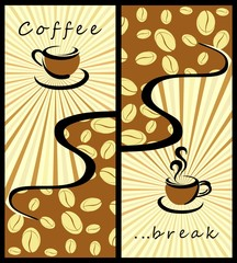 Obraz na Szkle Do kawiarni Coffee background . Coffee banners
