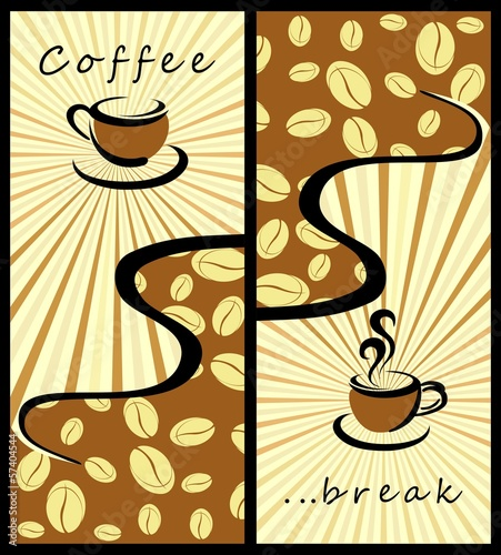 Coffee background . Coffee banners - 57404544