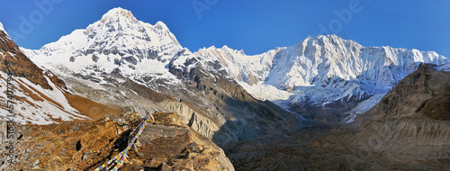 Annapurna mountains massif, view from ABC camp Wallpaper Mural