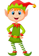 Cute And Happy Looking Christmas Elf