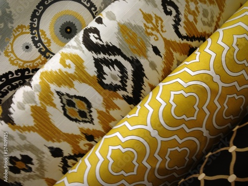 Wall Murals Fabric Yellow Fabric