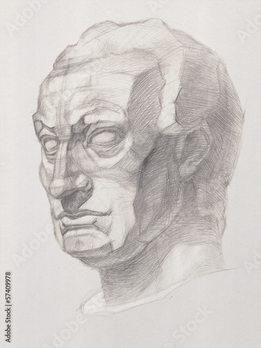 Bust of the Statue of Gatamelata Canvas Print