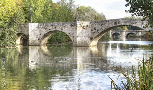 river Carrion in Palencia