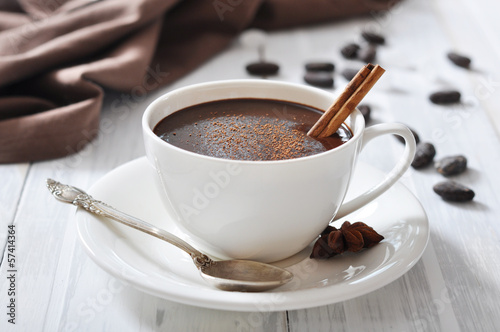 Spoed Foto op Canvas Chocolade Hot Chocolate in cup