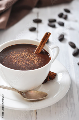 Foto op Plexiglas Chocolade Hot Chocolate in cup