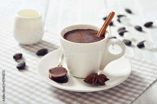 Poster de jardin Chocolat Hot Chocolate in cup