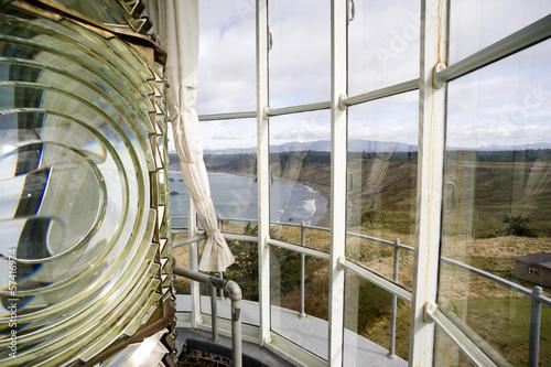 Lighthouse Top Tower Windows Glass Fresnel Magnifying Lens Fototapet