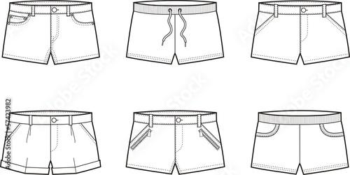 Fotografía  Vector illustration of shorts