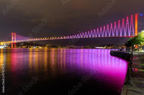 Purple Bosphorus Bridge