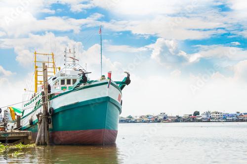 Fishing boat Wallpaper Mural
