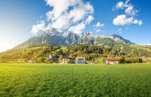 Mountain Village In Austria, Leogang