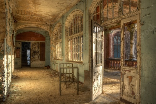 Photo Stands Old Hospital Beelitz Old abandoned hospital