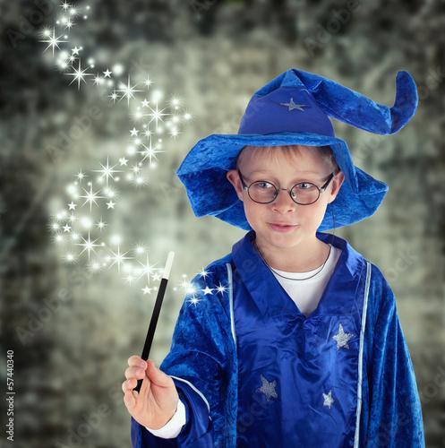 Fotografie, Obraz  Zauberer mit magischen Kräften