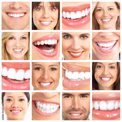 People teeth collage. #57458984