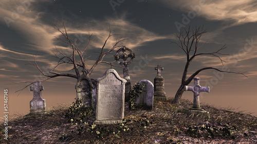 Tuinposter Begraafplaats 墓地