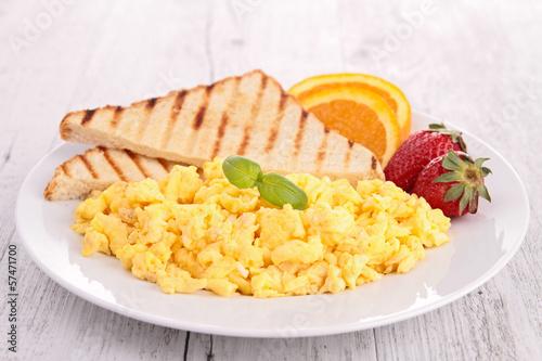 plate of scrambled egg Fototapet