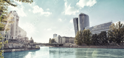 Photo  Danube Canal of Vienna - Austria