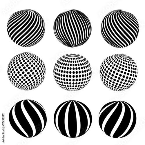 Fototapeten Künstlich Abstract dotted sphere