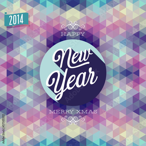 """Photo """"New Year"""" Poster. Vector illustration."""