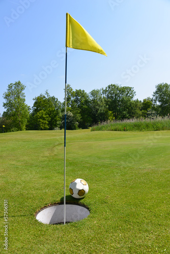 Poster Golf Footgolf sport in the Netherlands