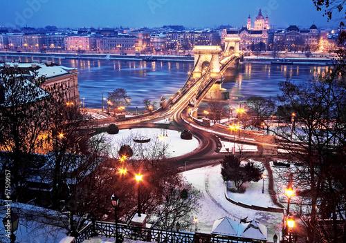 Aluminium Prints Budapest Budapest in winter