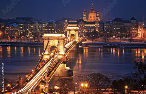 Photo  Budapest in winter