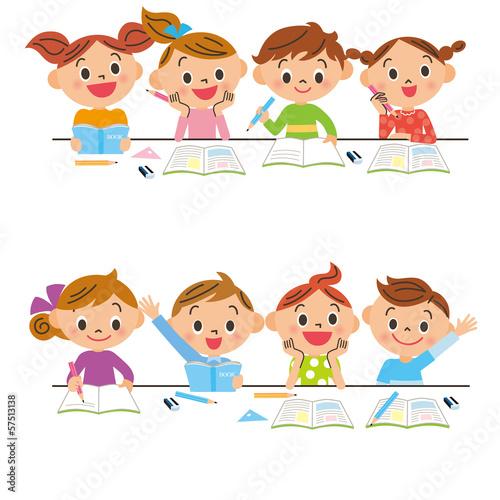 Fotografía  勉強をする子供達