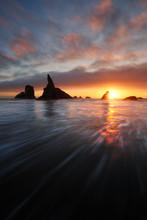 Bandon Beach, Côte Oregon, états-unis