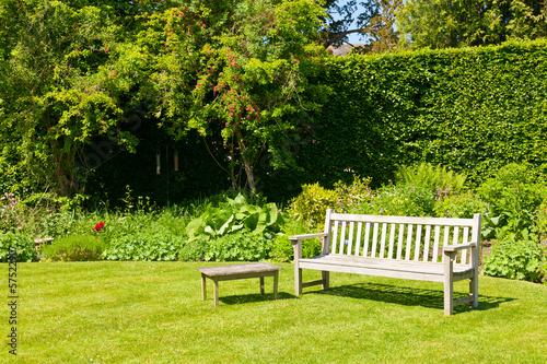 Papiers peints Jardin Garden bench