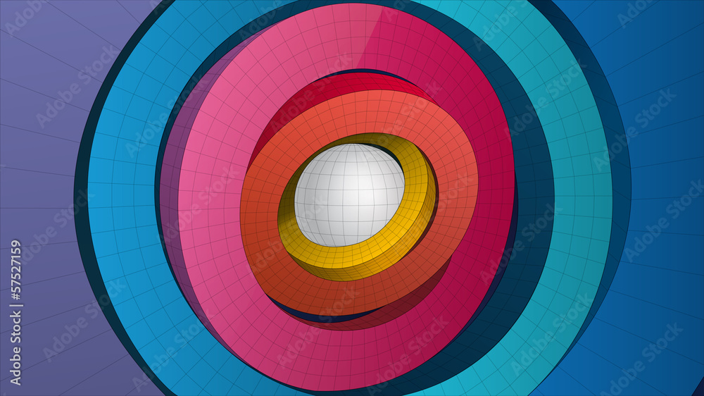 ring form composition for graphic design