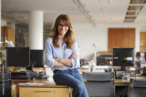 Fotografie, Obraz  Happy  Businesswoman