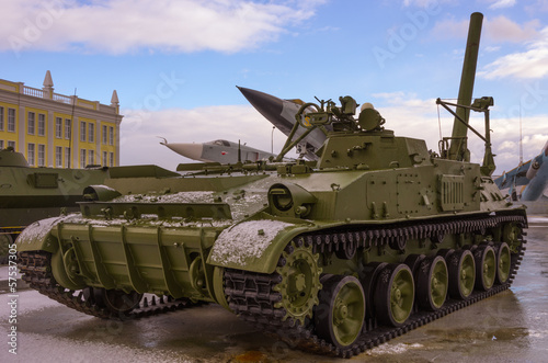 Poster Militaire Heavy soviet tank.Cold war