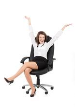Kobieta Biznesu Na Fotelu