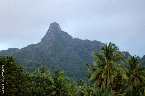 Fotografie, Obraz  Te Manga mountain in Rarotonga Cook Islands