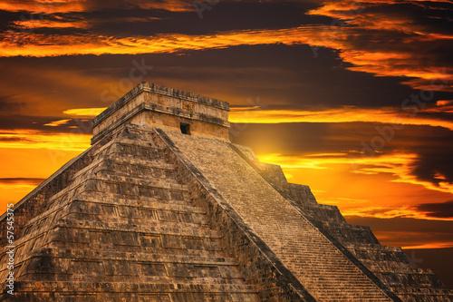 Fotografie, Obraz  Kukulkan pyramida v Chichen Itza Site